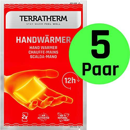 TerraTherm Handwärmer, Taschenwärmer für 12h warme Hände, Wärmepads Hand durch Luft aktiviert, 100{96cebdcdad90aa1a7040c42e1ba9d077c0aa1561927c0557fdcdf53f64d5af88} natürliche Wärme, Fingerwärmer, 5 Paar