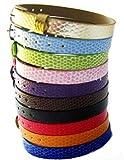 Motiv Armband mit Prägung für Frauen und Mädchen ab 12J - 1,0m Bandbreite - Viele Farben