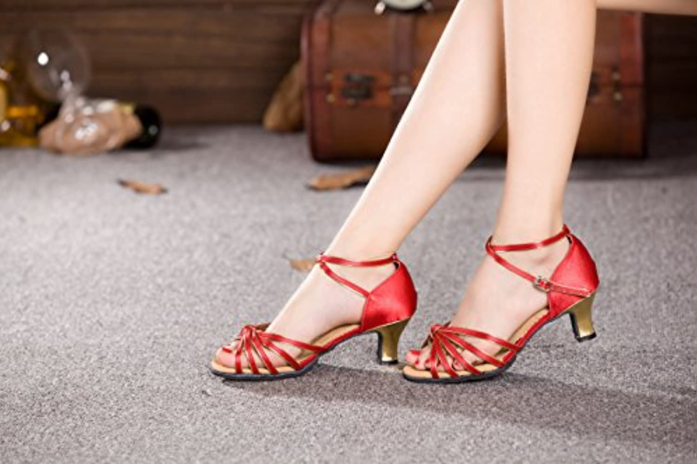 XPY&DGX Chaussures de Danse Latine Rouge, des Chaussures de de de Danse Adultes avec des Chaussures de Danse carrée...B078HJ7Q52Parent | économique Et Pratique  | De Gagner Une Grande Admiration  ba53ae