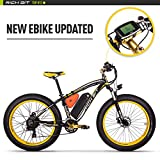Rich Bit TP022 1000W 48V * 17Ah Lithium-Ionen-Akku 26 '' * 4''inch Fat Reifen LCD Display 7 Levels Pedelec Geschwindigkeit Alluminum Rahmen Unisex Mans Erwachsene Snow Bike Draußen Radfahren