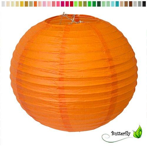 Creativery 10 Lampions 20cm Set Laterne Hochzeit Party Wohnungsdeko Hängedeko Raumdeko Geburtstag Feier orange