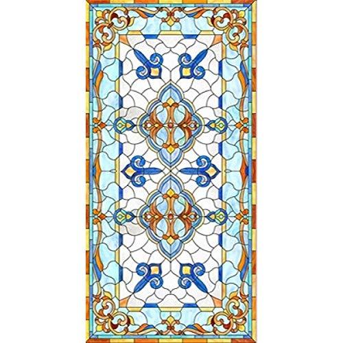KUNHAN Fensterfolie Benutzerdefinierte Größe Elektrostatisch Matt Glasmalerei Fenster Film Kirche Hause Folientür Aufkleber PVC Selbstklebende Fensterfolien Fensterfolie Sichtschutz