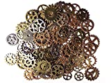 100 X Steampunk Engranajes Multicolor Gótico Charms Bronce de metal