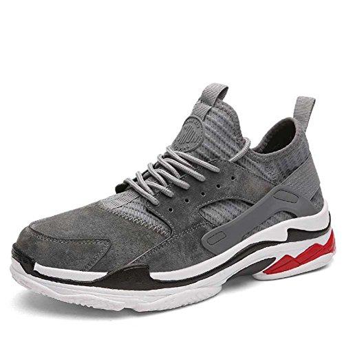 Chaussures de Sport pour Hommes Casual Harajuku Sports Shoes Confortable Sneakers Respirant Noir/Gris/Rouge Taille 39-44