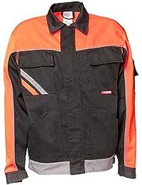 Planam Bundjacke Visline V2, Größe 58, schwarz / orange / zink, 2481058