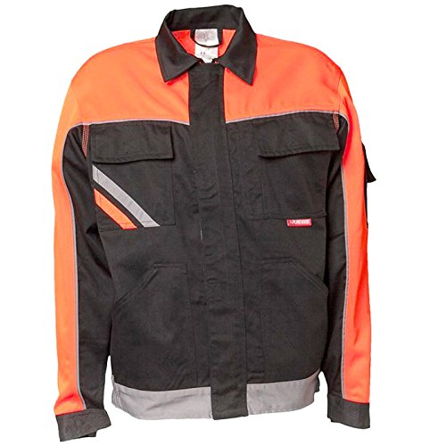 Planam Bundjacke Visline V2, Größe 106, schwarz/orange/zink, 2481106