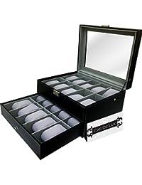 Cas De Lux Reloj de Lujo Almohada de Terciopelo Caja de 20 Ranuras, Premium