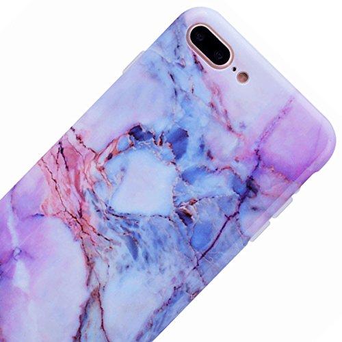 SMART LEGEND iPhone 7 Weiche Silikon Hülle Bumper Schutzhülle mit Farbe Marmor Muster Handyhülle Crystal Kirstall Clear Etui Ultra Slim Design Glatt Durchsichtig Weich TPU Handy Tasche Soft Case Marbl Bunt