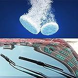 Fancyleo 10pcs de voiture solide d'essuie-glace de voiture auto Nettoyage de vitres de voiture pare-brise en verre Cleaner, effervescent Tablette solide d'essuie-glace fine pour portes de douche, pare-brise, Windows, Chrome, carrelage, Toilettes