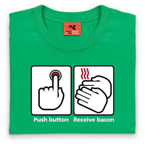 Bacon T-Shirt, Damen Keltisch-Grn