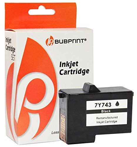 Bubprint Druckerpatrone kompatibel für Dell 7Y743 black A940 A960 (Tintenpatrone 7y743)