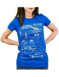 style3 GT500 Dessin Bleu Femme T-Shirt