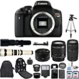 Canon Eos Rebel T6i 24.2 MP Digital SLR Camera With Canon EF-S 18-55mm Is Lens + Canon 75-300mm Zoom Lens + Canon EF 50mm F/1.8 II Lens + 500mm Preset Telephoto Lens + 650-1300mm Zoom Lens Bundle