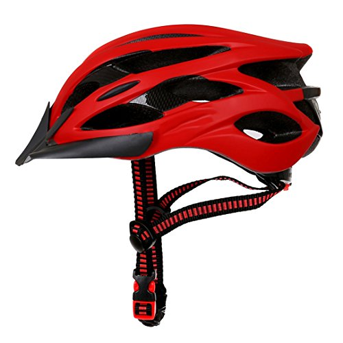 MOLDERY Diseño Mate Negro Bicicleta Cascos MTB Mountain Road Ciclismo Casco Bicicleta...