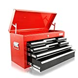 Werkzeugkasten mit 8 Schubladen und 1 Deckelfach - Rot