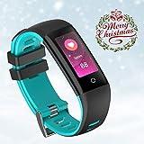 Chouzon Fitness Tracker mit 0,96'TFT ColorScreen, für iPhone/Samsung, etc (Blau)