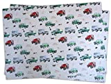 Christmas Land Rover Defender inspired and Dog Wrapping Paper and Tags