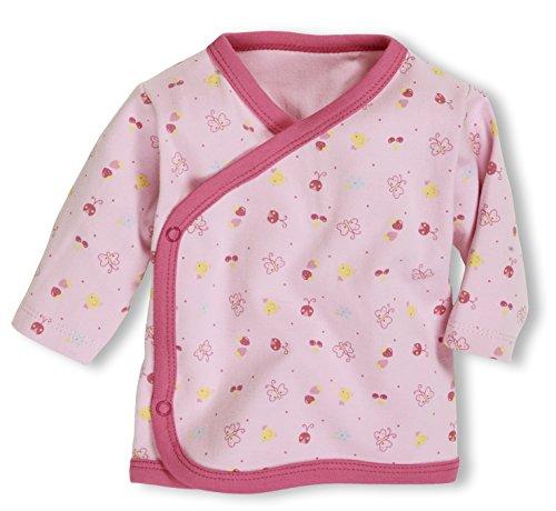 Schnizler Unisex Baby Hemd Wickelshirt, Flügelhemd, Erstlingshemd Langarm Allover, Oeko Tex Standard 100, Gr. Frühchen (Herstellergröße: 44), Rosa (rose 14)
