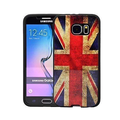 Samsung Galaxy S7 Edge Retro Union Jack Gedrucktes Design Gel Hülle Gadget Boxx -