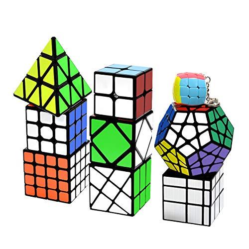 Lunaoo Speed Cube Set Magic Cube 9 Piezas 2x2 3x3