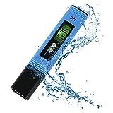 Digital PH Mètre, Louisayork Test de qualité de l'eau au mètre, grand écran LCD avec lumière noire, 0,01Résolution Format de poche pour l'eau Aquarium piscine jacuzzi hydroponie Vin