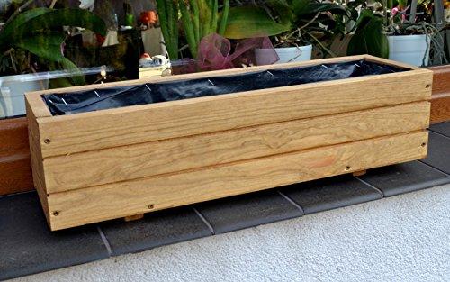 NEU Pflanzkasten aus Holz TOP Pflanzkübel Garten Terrasse fertig montiert D6 Eiche (Länge 90 cm)