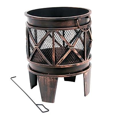 """Feuerkorb """"Plum"""", Feuerkorb, Feuerstelle, 42 x 42 x 52,5 cm, Feuerschale in Antik-Optik von cs-trading auf Du und dein Garten"""