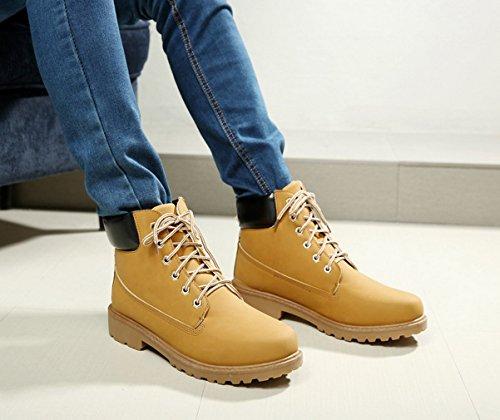 La Vogue Bottes Boots Bottines Désert Homme Mode Fourrées Montantes Hiver Chaude Casual Marron