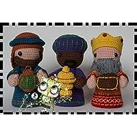REYES MAGOS AMIGURUMI NAVIDAD PERSONALIZABLE ( Bebé, crochet, ganchillo, muñeco, peluche, niño, niña, lana, mujer, hombre ) MODA, ORIGINAL, FANTASÍA