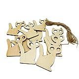 Sharplace 10 Pezzi Abbellimenti Pendente Attaccatura in Figura Del Gatto Tagliandi Di Legno