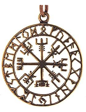 Wikingerkompass Anhänger aus Bronze Nr. 122