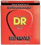 Dr Strings Red Devils–extra-life rot beschichtet 5Saiten Bass 45–125