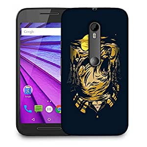 Snoogg Mustache Wolf Designer Protective Back Case Cover For MOTOROLA G3
