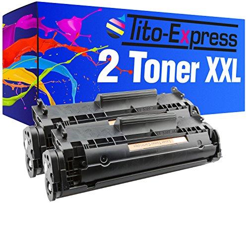 2 Toner-Patronen XL PlatinumSerie Schwarz für HP Q2612A 12A Laserjet 1010 1012...
