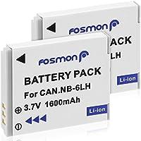Fosmon NB-6L - Batería de Repuesto para Canon PowerShot (1600 mAh, 2 Unidades)