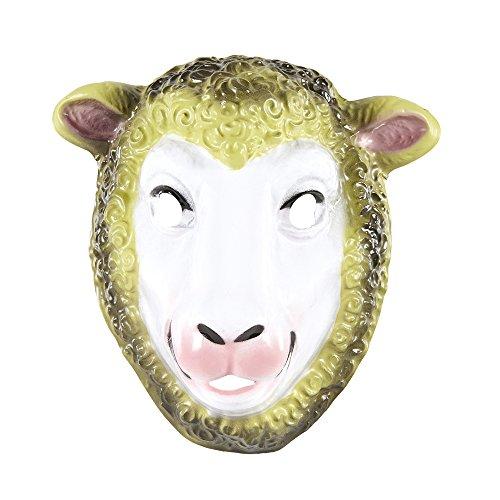 NEU Maske Schaf aus Plastik, Kindergröße
