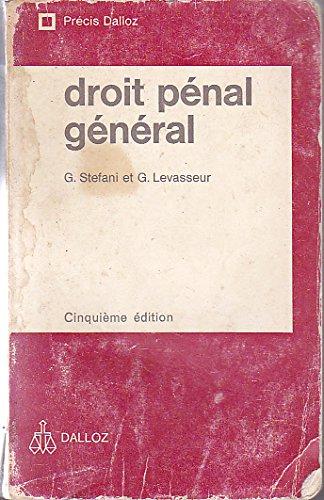 Droit pénal général par Claude Lombois