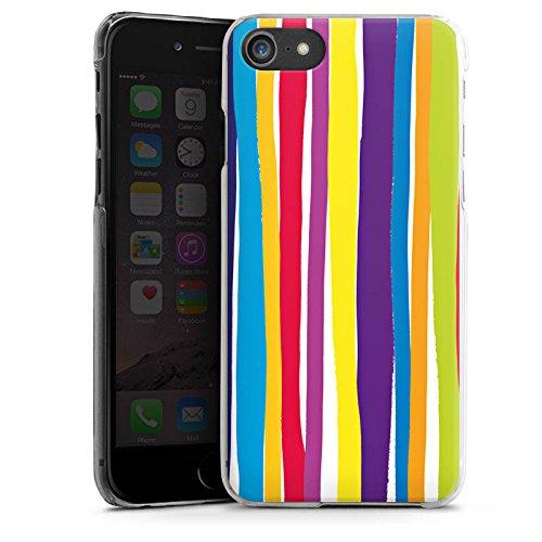 Apple iPhone X Silikon Hülle Case Schutzhülle Streifen Farben gestreift Hard Case transparent