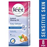#1: Veet Full Body Waxing Kit with Easy-Gelwax Technology for Sensitive Skin - 8 Strips
