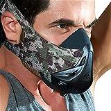 FDBRO Atemmaske Training - Workout-Trainingsmaske - High-Altitude-Endurance-Maske erhöht die Kraft, Laufwiderstand Atemmaske mit Tragetasche