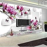 Guyuell Moderne Innenarchitektur Fototapete 3D Stereo Platz Orchidee Reflexion Ästhetische Wand Wohnzimmer Tv Hintergrund Tapete-250Cmx175Cm