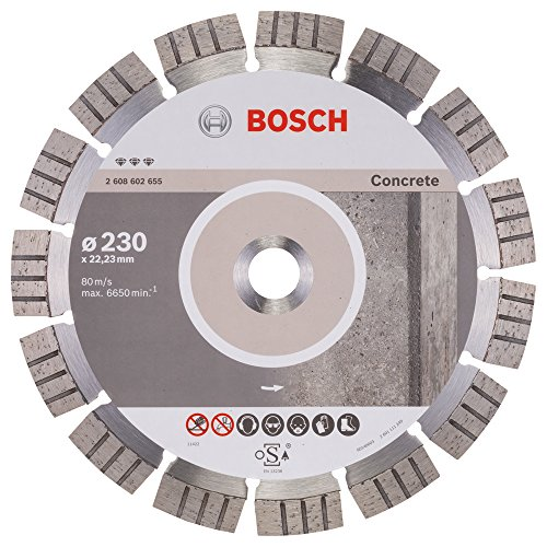 Bosch Professional Diamanttrennscheibe Best für Concrete, 230 x 22,23 x 2,4 x 15 mm, 2608602655
