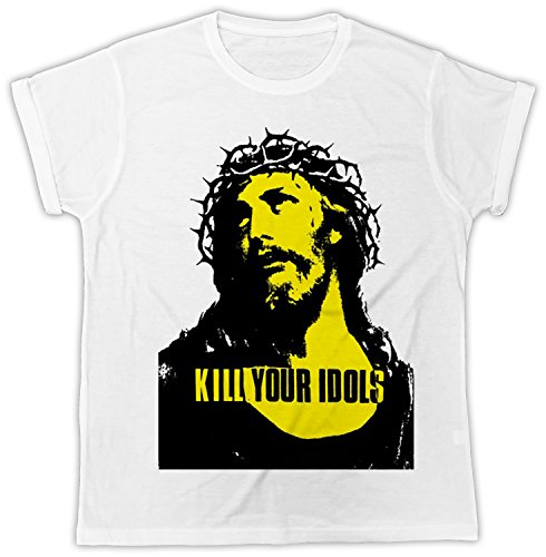 Uk print king Kill Your Idols Poster Cooler Spruch, Slogan, Lustiges Design, Geschenkidee (T-shirt Bedruckt Lustige Slogan)