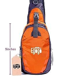 EGOGO Multifuncional 3 capas Mochila de Hombro Bolsas Senderismo Ciclismo Deportes Escolar Mochila Sling Bolso para Hombres y Mujeres T821 (Naranja)