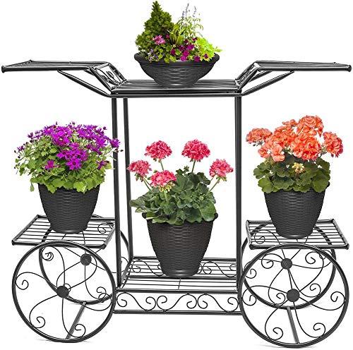 Gartenwagenständer & Blumentopfhalter Display Rack, 6 Ebenen, Pariser Stil