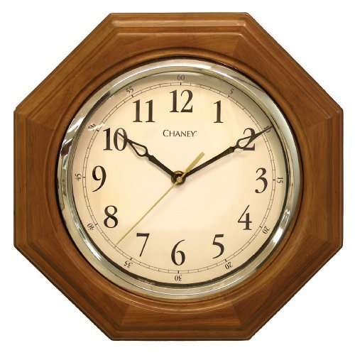 Chaney 46101A1 12 inch Octagon Wood Clock by Chaney Instrument Co -
