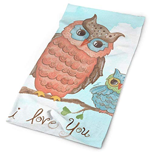Baby Owls I Love You Original Headband with Multi-Function Sports and Leisure Headwear UV Protection Sports Neck, Sweat-Absorbent Microfiber Running, Yoga, Hiking