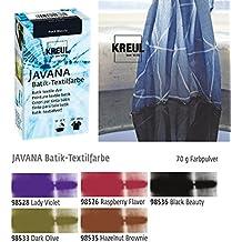 Batikfarben Set, 5 Batik Textilfarben im Set, dunkle Farben