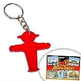 Schlüsselanhänger rot Ampelmännchen | GRATIS DDR Geschenkkarte | Ossi Produkte | Geschenkidee für alle Ostalgiker aus Ostdeutschland | DDR Geschenke