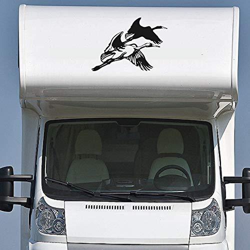 Pegatina Promotion Wohnmobil Wohnwagen Aufkleber Zwei Fliegende Kraniche ca 50cm WOMI WOWA Camping Van Sticker Autoaufkleber